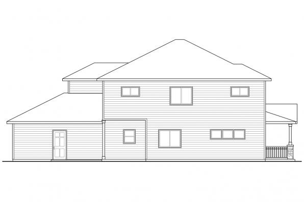 Country House Plan - Parkridge 60-035 - Right Elevation