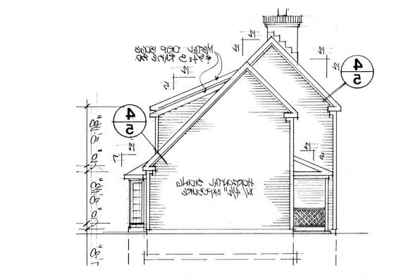 Country House Plan - Perrysburg 42-001 - Right Elevation