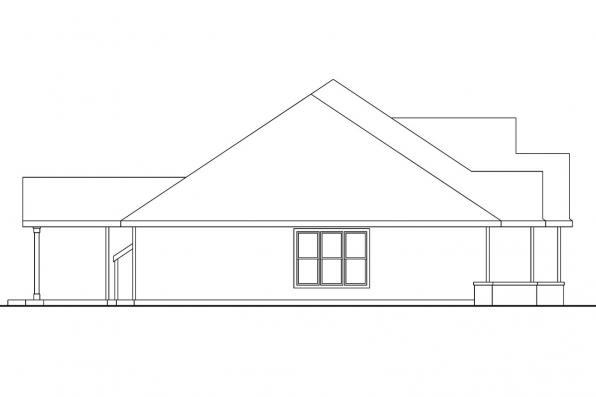 Country House Plan - Pleasanton 30-545 - Right Elevation