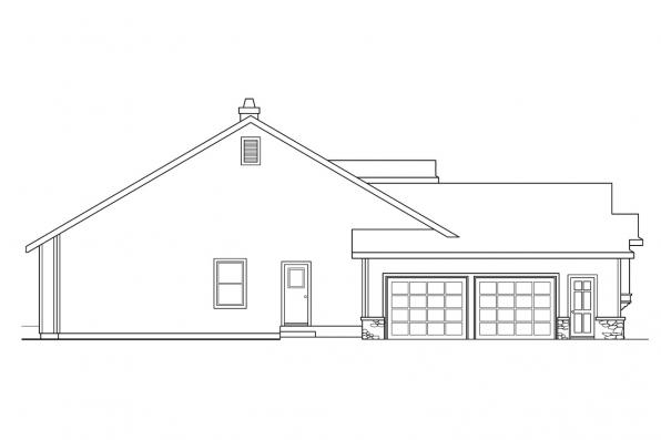 Country House Plan - Rainier 10-303 - Right Elevation