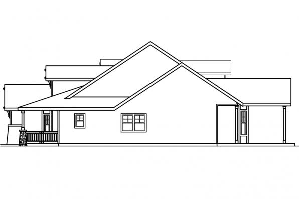 Country House Plan - River Glen 30-223 - Left Elevation