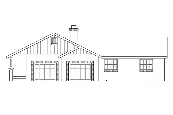 Country House Plan - Saginaw 10-251 - Left Elevation