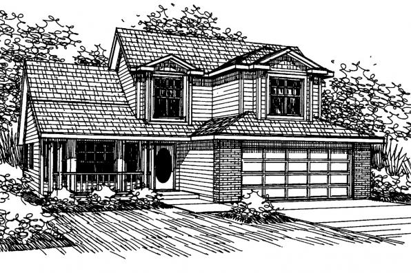 Country House Plan - Selkirk 30-119 - Front Elevation