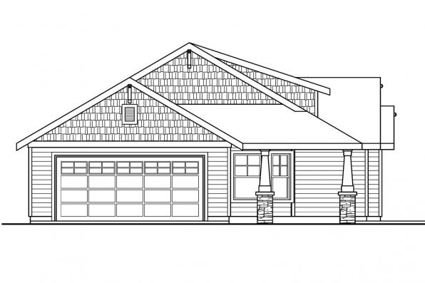 Country House Plan - Strathmore 30-638 - Right Elevation