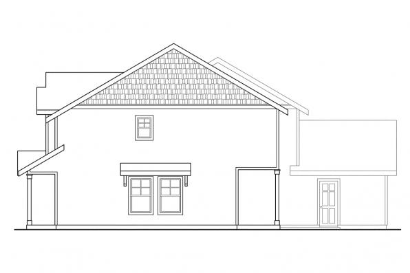 Country House Plan - Vernon 60-019 - Left Elevation
