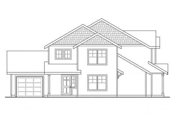 Country House Plan - Vernon 60-019 - Right Elevation