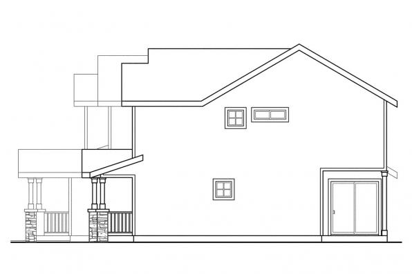 Country House Plan - Waycross 60-018 - Left Elevation