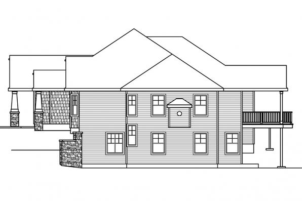 Country House Plan - Worthington 30-594 - Left Elevation