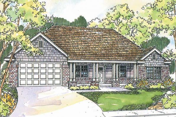 Craftsman House Plan - Adrian  30-511 - Front Elevation