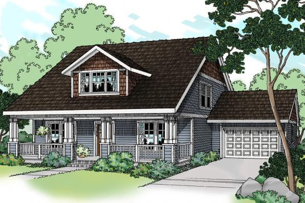 Craftsman House Plan - Bailey 30-262 - Front Elevation