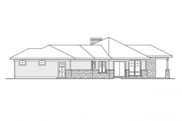 Craftsman House Plan - Baltimore 10-554 - Right Elevation