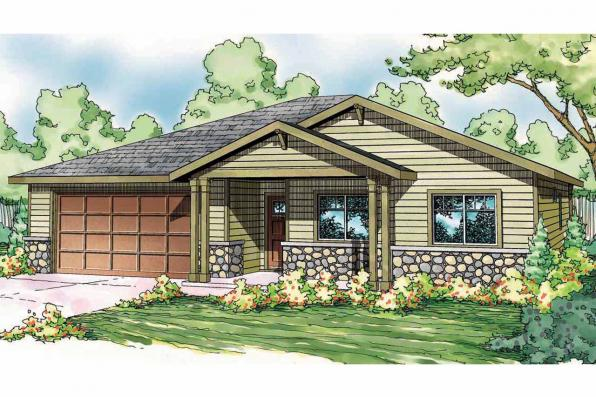 Craftsman House Plan - Bandon 30-758 - Front Elevation