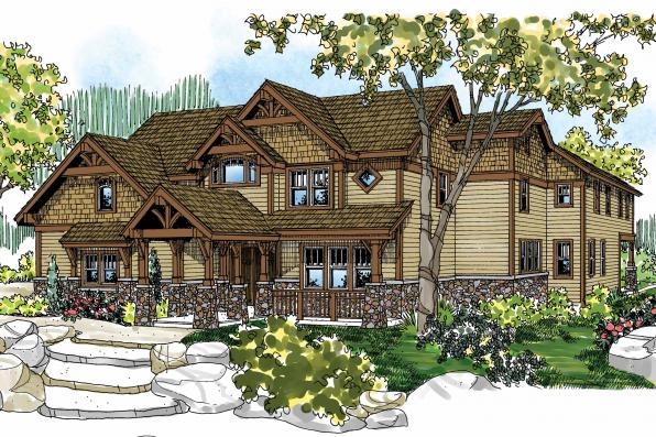 Craftsman House Plan - Breckenridge 30-483 - Front Elevation