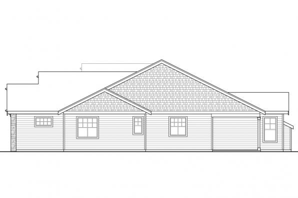 Craftsman House Plan - Brookstone 31-066 - Left Elevation