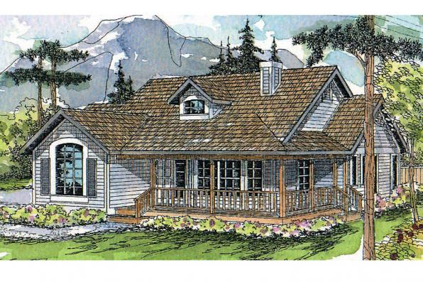 Craftsman House Plan - Cambridge 10-045 - Front Elevation