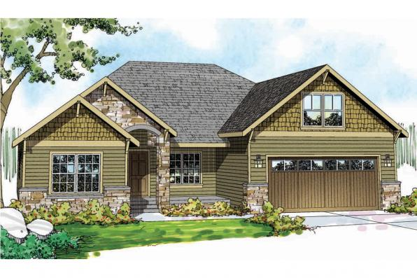 Craftsman House Plan - Cascadia 30-804 - Front Elevation