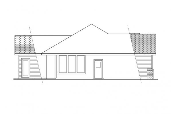 Craftsman House Plan - Catkin 30-152 - Right Elevation