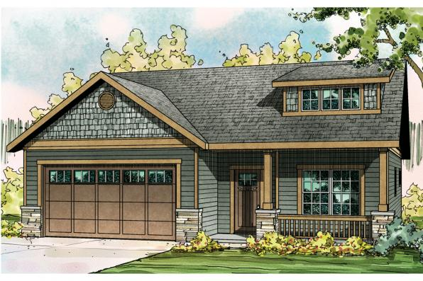 Craftsman House Plan - Cedar Ridge 30-855 - Front Elevation
