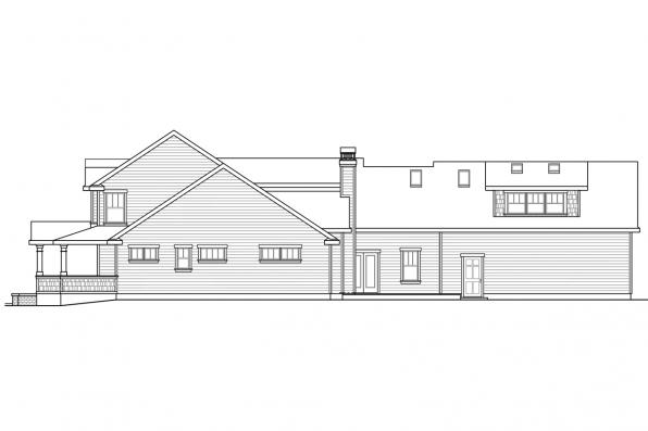 Craftsman House Plan - Coburg 30-637 - Left Elevation