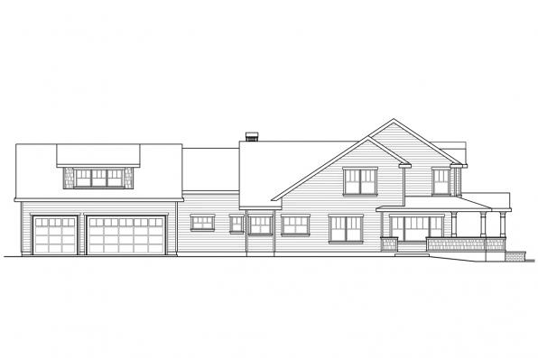 Craftsman House Plan - Coburg 30-637 - Right Elevation