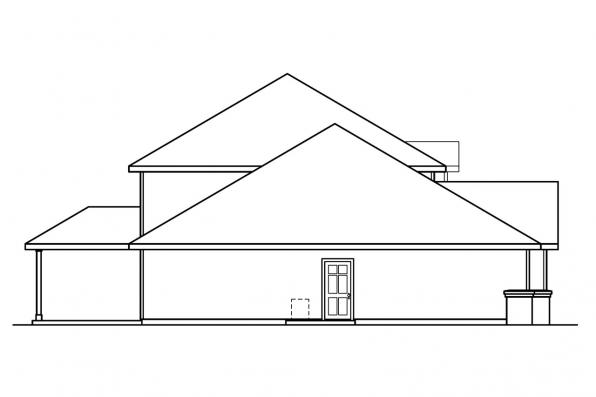 Craftsman House Plan - Craigmont 30-464 - Right Elevation