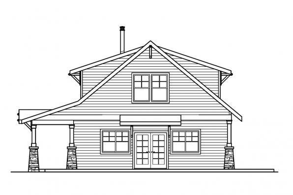 Craftsman House Plan - Dorset 30-454 - Left Elevation