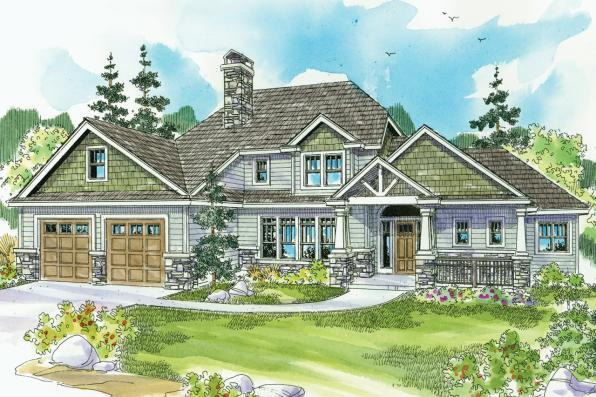 Craftsman House Plan - Etheridge 30-716 - Front Elevation