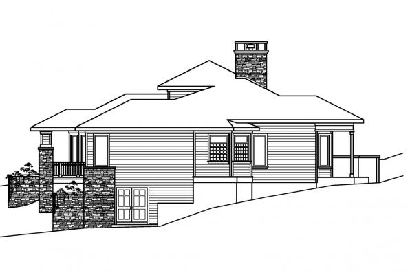 Craftsman House Plan - Elmhurst 30-452 - Left Elevation