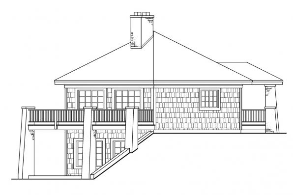 Craftsman House Plan - Grandview 10-249 - Right Elevation