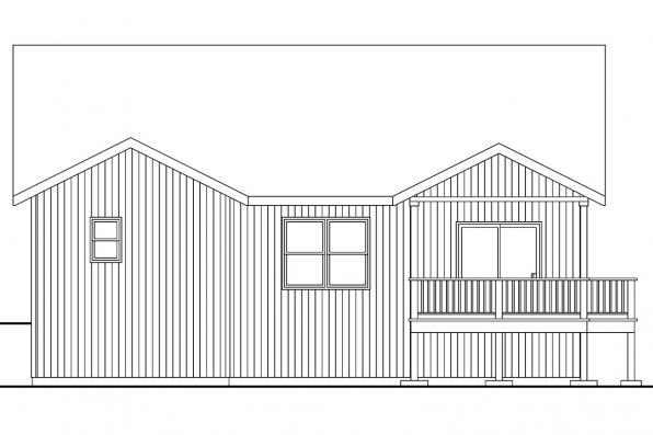 Craftsman House Plan - Kayleigh 30-549 - Rear Elevation