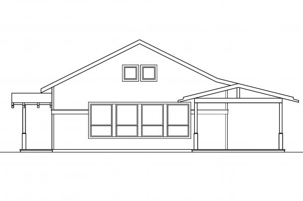 Craftsman House Plan - Kent 30-498 - Right Elevation