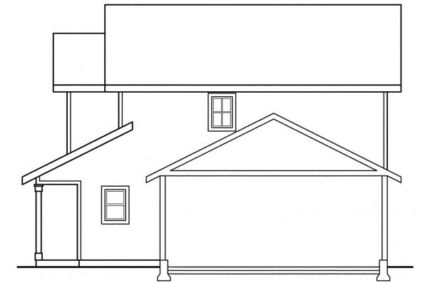 Craftsman House Plan - Kentland 60-015 - Left Elevation