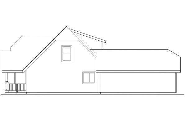 Craftsman House Plan - Lawrence 30-103 - Left Elevation