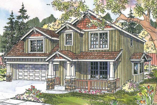 Craftsman House Plan - Mallory 30-576 - Front Elevation