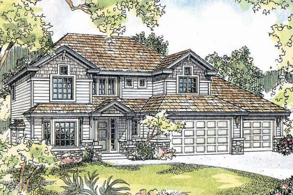 Craftsman House Plan - Masterson 30-455 - Front Elevation
