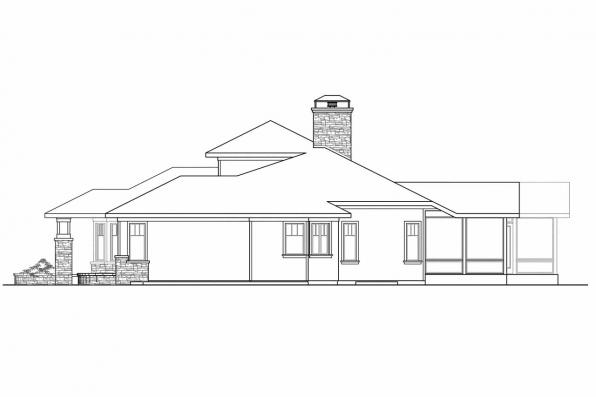 Craftsman House Plan - Metolious 30-746 - Left Elevation