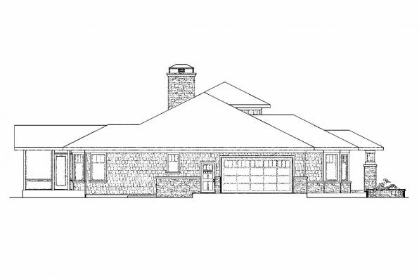 Craftsman House Plan - Metolious 30-746 - Right Elevation