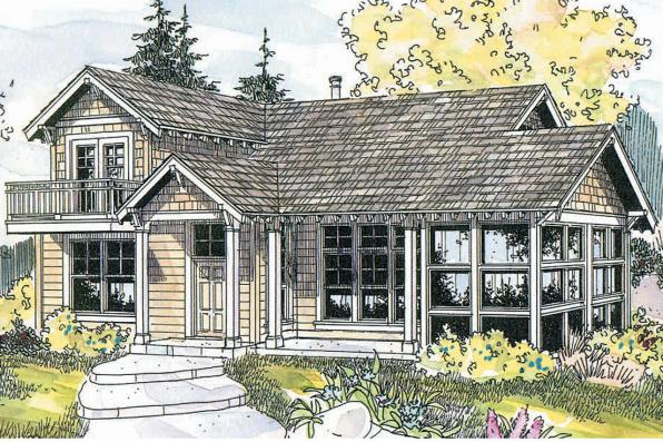 Craftsman House Plan - Northlake 30-504 - Front Elevation