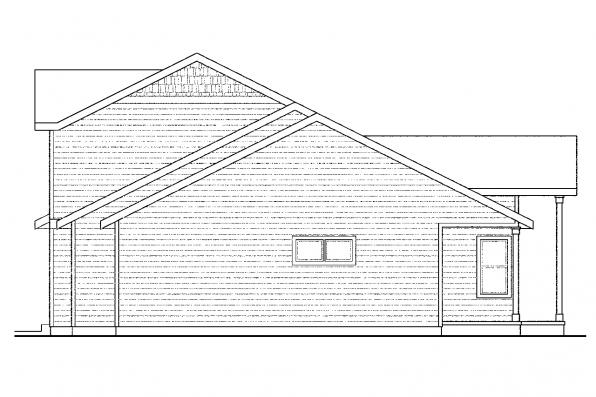 Craftsman House Plan - Ontario 30-830 - Left Elevation