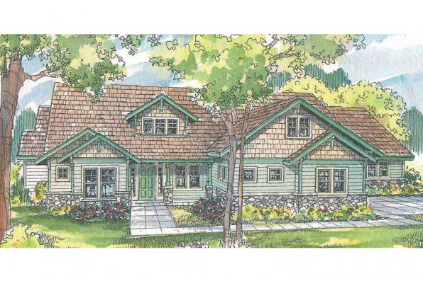 Craftsman House Plan - Radisson 30-374 - Front Elevation