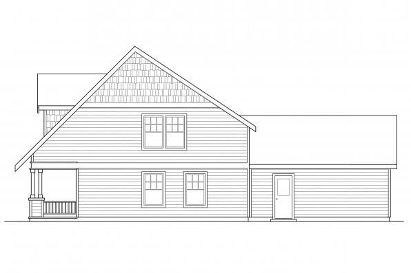 Craftsman House Plan - Richardson 30-102 - Left Elevation