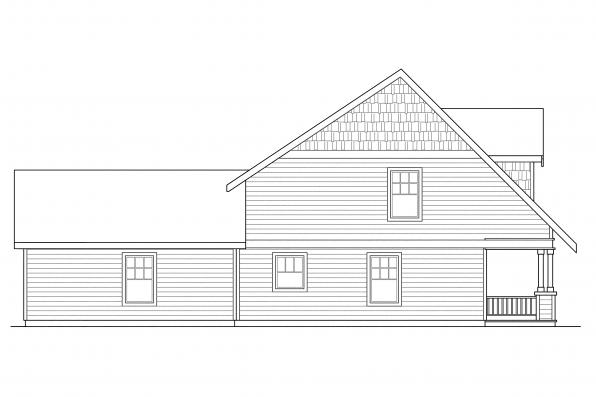 Craftsman House Plan - Richardson 30-102 - Right Elevation