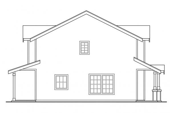 Elevation Plan Profile : Craftsman house plans rothbury associated designs