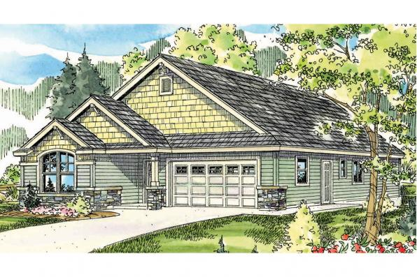 Craftsman House Plan - Russellville 30-724 - Front Elevation
