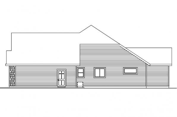 Craftsman House Plan - Schuyler 30-522 - Left Elevation