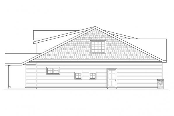 Craftsman House Plan - Shasta 30-866 - Right Elevation