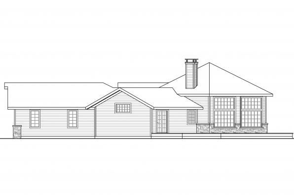 Craftsman House Plan - Silvercrest 11-143 - Left Elevation