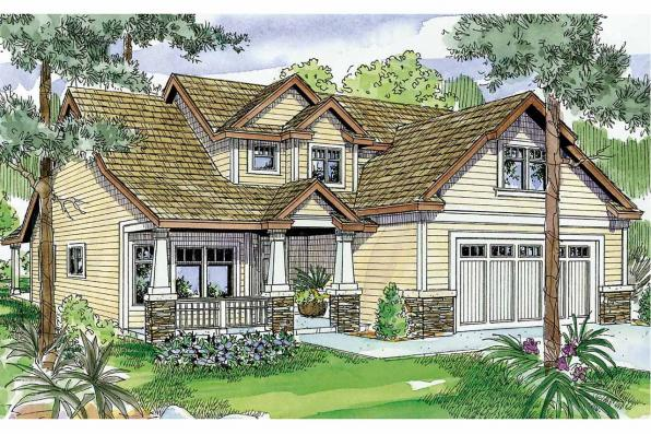 Craftsman House Plan - Sturnbridge 30-663 - Front Elevation