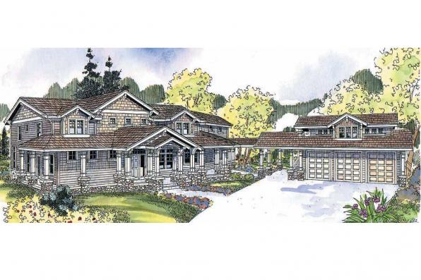 Craftsman House Plan - Summerfield 30-611 - Front Elevation