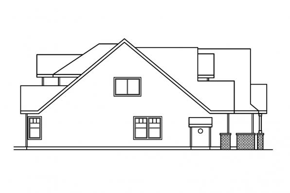 Craftsman House Plan - Tamarack 30-426 - Right Elevation